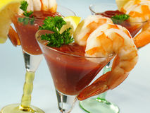 Shrimp Martinis stock image