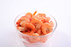 Shrimp meat-Microwave oven bowl Royalty Free Stock Photography