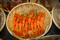 Shrimp menu japan Royalty Free Stock Images