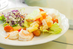 Shrimp mix salad Stock Images