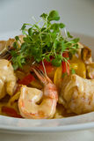 Shrimp and Monkfish Royalty Free Stock Photos