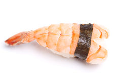 Shrimp nigiri sushi. (ebi) on the white background Royalty Free Stock Images