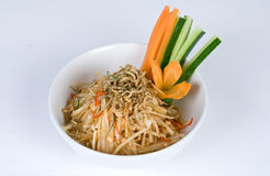 Shrimp noodle bowl Stock Photo