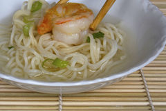 Shrimp and Noodle Soup Stock Photography