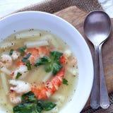 Shrimp & noodle soup Stock Image