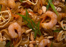 Shrimp with noodles Stock Photos