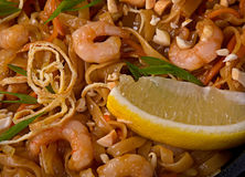Shrimp with noodles Stock Photography