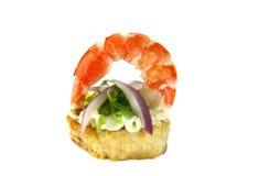 Shrimp And Onion Tidbit Stock Image