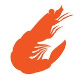 Shrimp outline  Royalty Free Stock Photo