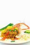 Shrimp Pad Thai Royalty Free Stock Image