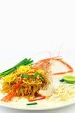 Shrimp Pad Thai Royalty Free Stock Image