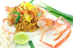 Shrimp Pad Thai Stock Photography