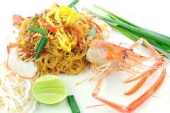 Shrimp Pad Thai Stock Photography