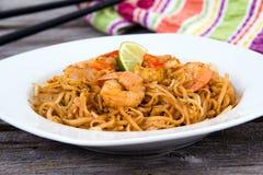 Shrimp Pad Thai Royalty Free Stock Photography