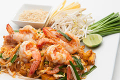 Shrimp Pad Thai Stock Photos