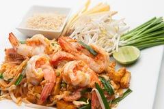 Shrimp Pad Thai Stock Photos