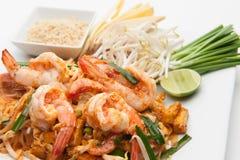 Shrimp Pad Thai Royalty Free Stock Images