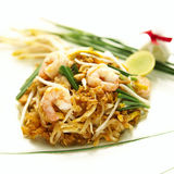 Shrimp Pad Thai Stock Photo