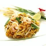 Shrimp Pad Thai. Shrimp spring thai thailand vegetable Stock Photo