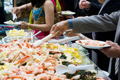 Shrimp Party Platter Stock Photos