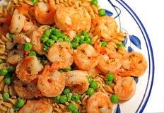 Shrimp and Pasta Stock Photo