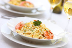 Shrimp Pasta Stock Image