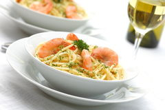 Shrimp Pasta Royalty Free Stock Image