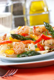 Shrimp Pasta Royalty Free Stock Photos