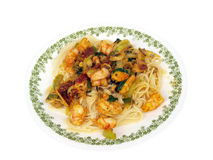 Shrimp Pasta Stock Photography