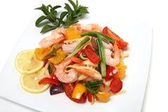 Shrimp Pasta Royalty Free Stock Photography