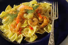 Shrimp pasta Stock Photos
