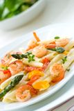 Shrimp Pasta Stock Photography
