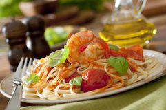 Shrimp Pasta Royalty Free Stock Photo