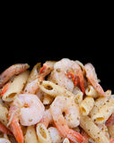 Shrimp pasta copyspace Royalty Free Stock Photo