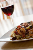 Shrimp Pasta Dish Stock Image