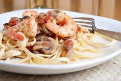Shrimp Pasta Dish Royalty Free Stock Photography