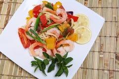Shrimp Pasta Salad Stock Photos