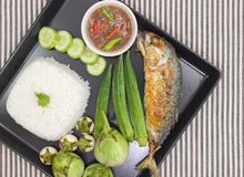 Shrimp Paste Chilli Sauce Stock Photo
