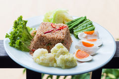 Shrimp paste fried rice Stock Images