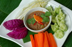 Shrimp paste sauce Royalty Free Stock Images