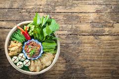 Shrimp paste - thai cuisine - thai food. Shrimp paste - thai cuisine-thai food Royalty Free Stock Photos