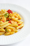 Shrimp Penne Pasta Royalty Free Stock Photos