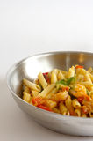 Shrimp Penne Pasta cooked Royalty Free Stock Image