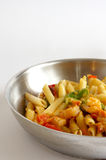 Shrimp Penne Pasta cooked Stock Image