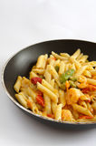 Shrimp Penne Pasta cooked Stock Photos
