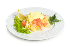 Shrimp and pineapple salad Royalty Free Stock Photo