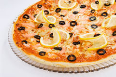 Shrimp Pizza Stock Image