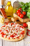 Shrimp pizza. Royalty Free Stock Photos