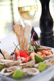 Shrimp plate Stock Image