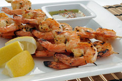 Shrimp Plate Stock Image